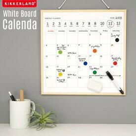 White Board Calendar / ホワイトボード カレンダー Kikkerland キッカーランド ホワイト ボード スジュール 黒板 おしゃれ DETAIL