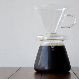 GLASS COFFEE DRIPPER SET / ガラス コーヒー ドリッパー セットPUEBCO プエブコ 350ml 1人用