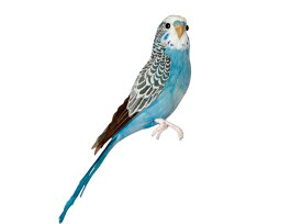Budgie(Blue) セキセイインコ ブルー PUEBCO Artificial Birdsプエブコ アーティフィシャルバード127071【あす楽対応_東海】