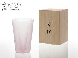 雪桜 [Pink] / ユキザクラ [ピンク]【 Tumbler 1P 】100% SAKURASAKU Glass タンブラー 1P サクラサク グラス 1P 桜 さくらぐらす コップ さくら サクラ フロスト つや無し【あす楽対応_東海】