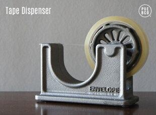 TapeDispenser/テープディスペンサーPUEBCO/プエブコシルバー鉄鋳鉄アイアンテープ什器ショップセロハンビンテージ
