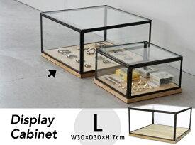 【Lサイズ】Display Cabinet / Lサイズ ディスプレイキャビネット ショーケース ガラスケース ショーケース W30×D30×H17cm detail