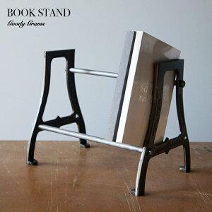 BOOK STAND / ブックスタンド Goody Grams / グッティーグラムス 本立て ブック スタンド アイアン 鉄 インダルトリアル W31×H26cm×D21(cm)