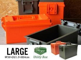 【Large】Utility Box ラージ ユーティリティーボックスHAYES TOOLING AND PLASTICS ヘイズ ツーリング アンド プラスチックUSA アメリカ製 アーモボックス 弾薬箱 工具箱 DETAIL