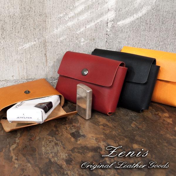 シガレットケース 本革 レザー 革 日本製 ロングサイズ シガレットケース マルチケース Zenis ゼニス B-0110【送料無料】