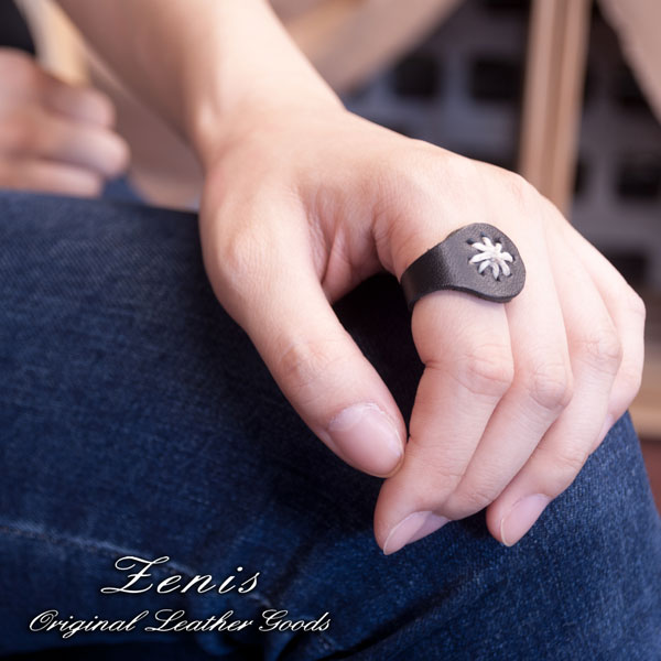 パーツ画像Zenis(ゼニス)ナチュラルレザー本革リング,指輪です男女共に使えてシンプルなデザインが好評です
