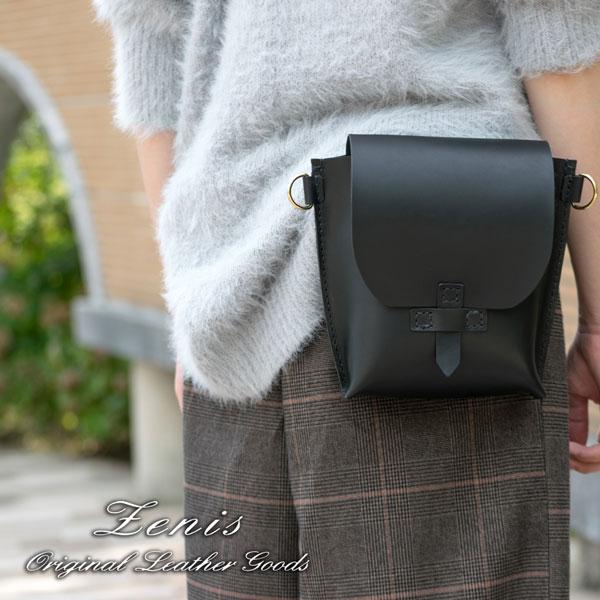 ウエストバッグ メンズ 本革 日本製 ポシェット ハンドバッグ 4way 単品 革 レザー ショルダーバッグ Zenis ゼニス B-0158【送料無料】