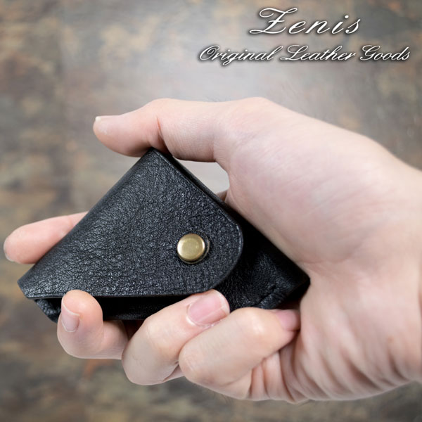 Zenis ゼニス 牛革 シュリンクレザー コインケース 手縫い 小銭入れ STW-002SH【あす楽】