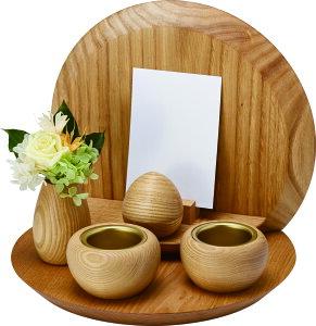 ミニ仏壇 ステージタイプ TINYstage en -えん- 仏具セット付 手元供養 祈りのステージ 遺品 飾り台 卓上 写真立て 小型仏壇 モダン仏壇 コンパクト おしゃれ かわいい