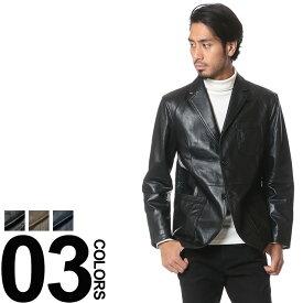 MIERU CONTEMPORARY (ミエル コンテンポラリ) シープスキン レザー 2ボタン ワークジャケット メンズ ジャケット 本革 2ボタン テーラード 紳士 大人 オシャレ 着こなし