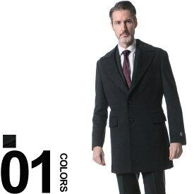 SARTORIA DEL GROSSO (サルトリアデルグロッソ) カシミヤ混 シングル 段返り3ツ釦 コート メンズ 紳士 男性 ビジネス アウター ジャケット シンプル カシミヤ ウール 秋 冬