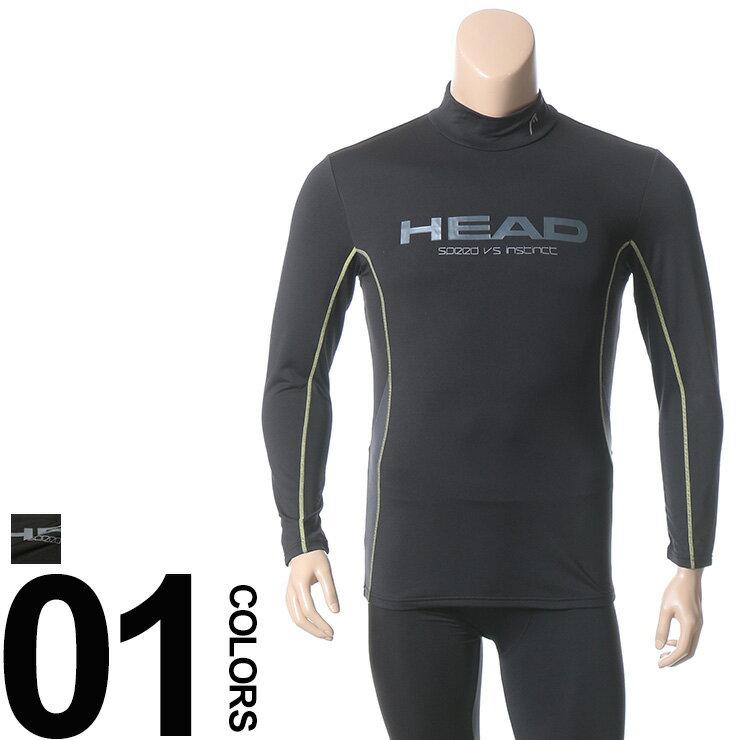 大きいサイズ メンズ HEAD (ヘッド) 再帰反射 抗菌防臭 吸水速乾 裏起毛 ウエストロゴ ステッチライン入り スタンドカラー コンプレッションTシャツ BIG SIZE カジュアル トップス スポーツ トレーニング 運動 ウェア