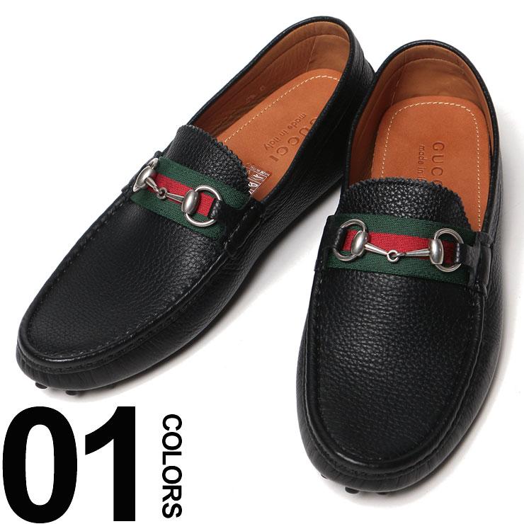 グッチ GUCCI レザー リボンライン付き ドライビングシューズ ブランド メンズ 男性 カジュアル ファッション レザーシューズ 靴 GC322741AHM10 【zenonline】