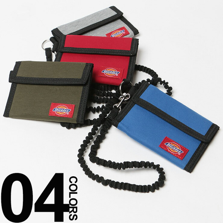 Dickies (ディッキーズ) スウェット素材 マジックテープ ゴムチェーン付き 三つ折り 財布 メンズ カジュアル 男性 メンズファッション ギフト プレゼント ラッピング