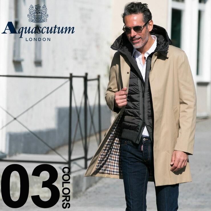 アクアスキュータム ロンドン Aquascutum LONDON コート ステンカラー シングル ブランド メンズ コート メンズ アウター ビジネス ブロードゲート AQBROADGATE7S 【newyear_d19】