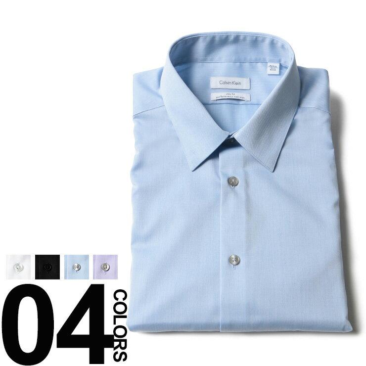 カルバンクライン Calvin Klein ドレスシャツ 綿 スリムフィット 長袖 NON IRONブランド メンズ 男性 紳士 ビジネス ワイシャツ Yシャツ コットン CK33K2479【zenonline】 【dl】brand