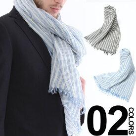 SAKAZEN (サカゼン) 綿100% ストライプ ストール メンズ 紳士 男性 カジュアル ギフト プレゼント ラッピング 贈り物 春