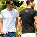 エンポリオアルマーニ EMPORIO ARMANI Tシャツ 胸ロゴ クルーネック 半袖 アンダーTシャツ ブランド メンズ 男性 カジ…