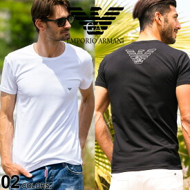 アルマーニ Tシャツ メンズ 半袖 EMPORIO ARMANI ロゴ プリント クルーネック ブランド エンポリオアルマーニ EA111035CC735