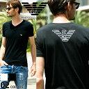 エンポリオアルマーニ EMPORIO ARMANI Tシャツ 胸ロゴ Vネック 半袖 アンダーTシャツ ブランド メンズ 男性 カジュア…