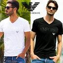アルマーニ tシャツ エンポリオアルマーニ EMPORIO ARMANI ロゴ Vネック 半袖 Tシャツ Tシャツ ブランド メンズ スト…