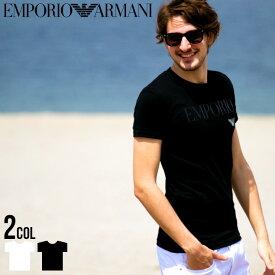 アルマーニ Tシャツ メンズ 半袖 EMPORIO ARMANI Tシャツ ロゴ プリント エンポリオアルマーニ クルーネック ブランド メンズ EA111035CC716