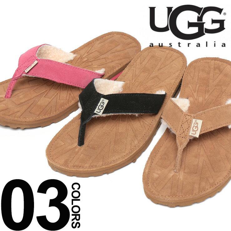 アグ UGG トングサンダル スエード 内ボア TASMINA ブランド レディース 靴 シューズ ビーチサンダル レザー UGGL1647 【dl】brand