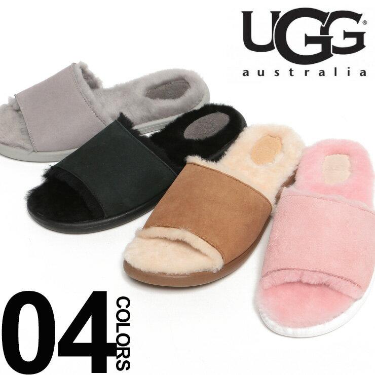 アグ UGG ムートンサンダル スエード ロゴ BREEZYブランド レディース 女性 カジュアル ファッション 靴 シューズ シャワーサンダル UGGL1017019【zenonline】