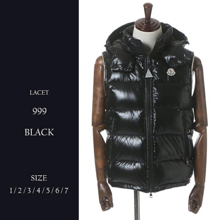 【ラスト1点/1サイズ】モンクレール MONCLER ダウンベスト LACET ラセ 撥水加工 ナイロン フード ブランド メンズ MCLACET7