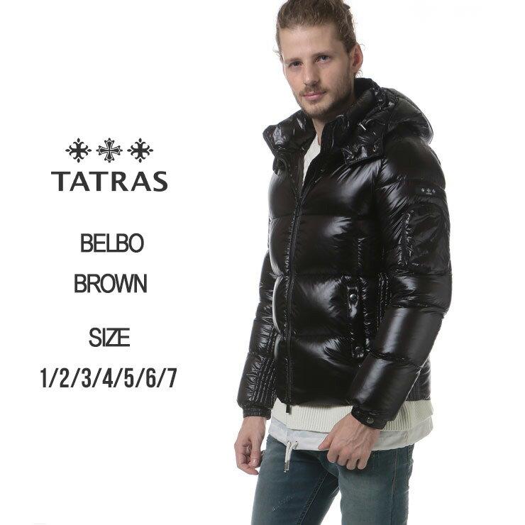 タトラス TATRAS ナイロン 袖ロゴワッペン フード付き フルジップ ダウンブルゾン BELBO ベルボ ブランド メンズ アウター ダウンジャケット TRMTA18A4368