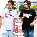 ディーゼル DIESEL Tシャツ 半袖 ボックスロゴ めくりデザイン プリント ブランド メンズ DSS02X091B