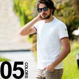 モンクレール MONCLER Tシャツ 半袖 クルーネック トリコロールリブ ブランド メンズ トップス カットソー MC801990087296