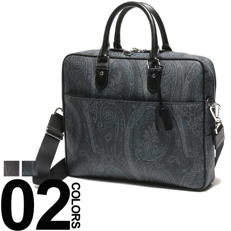 エトロ ETRO ブリーフケース ショルダーバッグ 2WAY ペイズリー レザー ET0H7638007 ブランド メンズ ビジネス 鞄