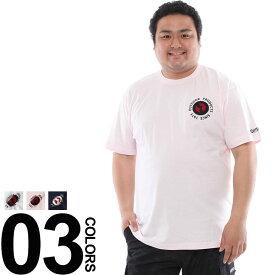 大きいサイズ メンズ OUTDOOR (アウトドア) 綿100% 胸元アップリケ クルーネック 半袖 Tシャツ BIG SIZE カジュアル トップス ティーシャツ アップリケT コットン100% C5834E