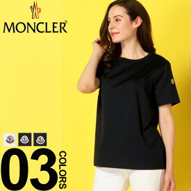 モンクレール MONCLER Tシャツ 半袖 ロゴワッペン プレーン 無地 クルーネック レディース MCL80834008390X ブランド