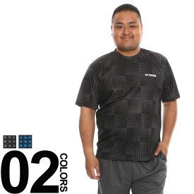 大きいサイズ メンズ Kaepa (ケイパ) 吸汗速乾 接触冷感 マイクロ Wメッシュ クルーネック 半袖 Tシャツ [3L-5L]