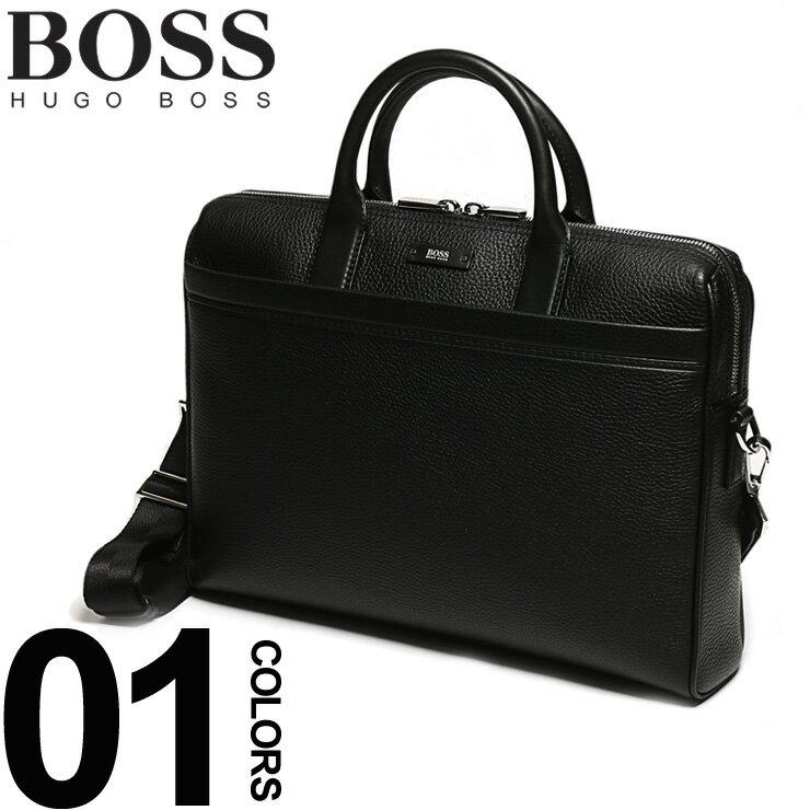 ヒューゴ ボス HUGO BOSS ブリーフケース 2way 牛革 ロゴ ブリーフバッグ メンズ ブランド ビジネス 鞄 バッグ 紳士 レザー HB50311773
