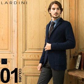 ラルディーニ ニットジャケット LARDINI シングル 2ツ釦 2B ブートニエール シェブロンストライプ ブランド メンズ ヘリンボン LDLJM22IG51023 SALE_2_c