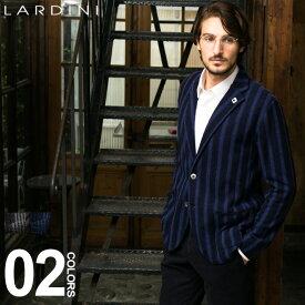 ラルディーニ ジャケット LARDINI ニットジャケット シングル 2ツ釦 2B ブートニエール ブランド メンズ ウール ストライプ LDLJM22IG51026 spsa SALE_2_c
