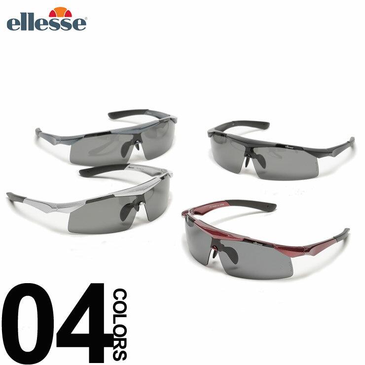 大きいサイズ メンズ ELLESSE (エレッセ) スポーツサングラス 交換レンズ5枚セット 専用ポーチ付き