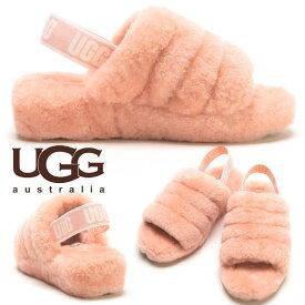 アグオーストラリア サンダル レディース UGG AUSTRALIA シープスキン ロゴ ヒールストラップ FULL YEAH SLIDE ブランド レディース もこもこ 秋冬 UGGL1095119