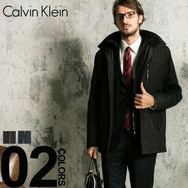 カルバンクライン コート Calvin Klein CK ナイロン スタンドカラー パーカー ハーフコート ブランド メンズ アウター フリース CKCM801073