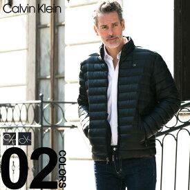 カルバンクライン ダウンジャケット メンズ Calvin Klein パッカブル ナイロン ライトダウン ブルゾン ブランド インナーダウン スタンドカラー CKCM812932F8