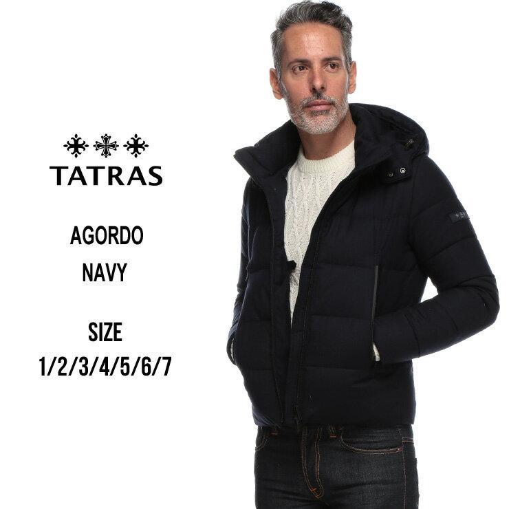 タトラス TATRAS ダウンジャケット ウール パーカー フード ブルゾン AGORDO アーゴルド ブランド メンズ アウター ウールダウン TRMTK19A4148
