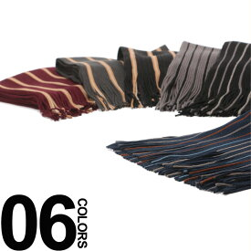 SAKAZEN (サカゼン) ストライプ フリンジ ラッセルマフラーメンズ カジュアル 男性 ファッション 小物 防寒 秋冬 マルチカラー 18AWACMF1