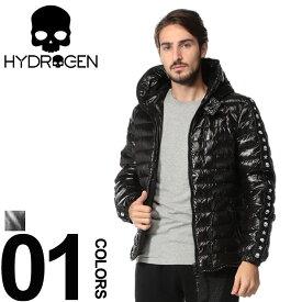 ハイドロゲン HYDROGEN DUVETICA コラボ ダウンジャケット スカルライン フルジップ パーカー ブランド メンズ アウター フード ドクロ LAIO HY23D008