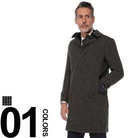 SARTORIA DEL GROSSO (サルトリアデルグロッソ) British Wool チェック柄 シングル コートメンズ 紳士 男性 ビジネス カジュアル アウター ウール スタンカラー 柄物 秋冬 6005086E18A24