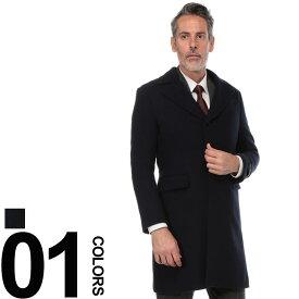 SARTORIA DEL GROSSO (サルトリアデルグロッソ) カシミヤブレンド シングル ポロコートメンズ 紳士 男性 ビジネス フォーマル アウター シンプル ウール 無地 ロング 秋冬 6306286B18A89