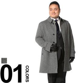 大きいサイズ メンズ Tubby&outlook 秋冬対応 カシミヤブレンド シングル ハーフコート [3L-6L]