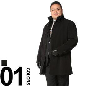大きいサイズ メンズ B&T CLUB 秋冬対応 撥水 ボタンジップ 中綿コート airpackthermo [3L-8L 2KE4 KE8]